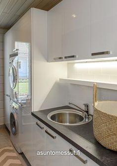 Talvipalatsi - Kodinhoitohuone   Asuntomessut Koti, Dream Rooms, Laundry Rooms, Sink, Interior, Kitchen, Ideas, Home Decor, Housekeeping