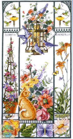 Summer Cat Sampler pakket  cross stitch €34,95