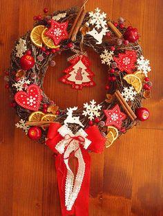 erikak / Veľký vianočný veniec 37cm