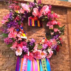 Fiesta San Antonio wreath at Madison's Salon, San Antonio, Tx. Fiesta 2012 is April 19-29, 2012