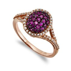 Pave Ruby and Diamond Dome Ring - LOVE this one, a great Valentine's Day gift.