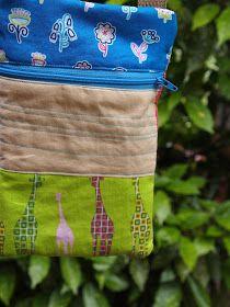 Plum and June: Front Zip Pouches with Shoulder Straps Diy Bag With Zipper, Shoulder Straps, Shoulder Bag, Nap Times, Pouches, Diy Fashion, Messenger Bag, Knit Crochet, Plum