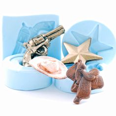 Western Molds  resin molds  polymer clay molds  by MoldMeShapeMe, $21.95