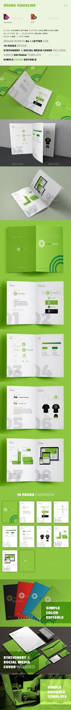 Brand Guideline Brochure Template PSD, Vector EPS, InDesign INDD, AI Illustrator