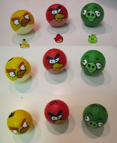#Angrybirds #golf #balls