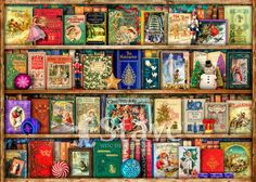 Ravensburger The Christmas Library Jigsaw Puzzle, 1000 pieces Christmas Jigsaw Puzzles, Wooden Jigsaw Puzzles, 1000 Piece Jigsaw Puzzles, Christmas Books, A Christmas Story, Mind Puzzles, Puzzle Store, Weird And Wonderful, Book Lovers Gifts