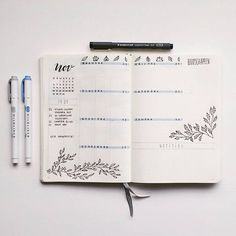 Bullet journal inspiration and layout ideas Bullet Journal Planner, Bullet Journal Monthly Spread, Bullet Journal Notes, Bullet Journal Aesthetic, Bullet Journal Layout, Journal Inspiration, Journal Ideas, Journal Pages, Hand Lettering