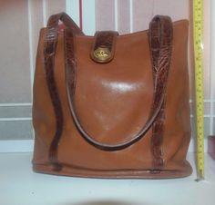 5eaf5e11a0 Vintage Brahmin Bucket Bag Two tone Brown Original Owner VERY CLEAN