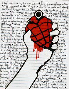 "Various ""American Idiot"" [Album] Lyrics - Green Day! I wanna do this with Boulevard of Broken Dreams! American Idiot Album, Green Day American Idiot, Punk Rock, Green Day Lyrics, Hardcore, Band Wallpapers, Billie Joe Armstrong, Arte Obscura, Rock Posters"
