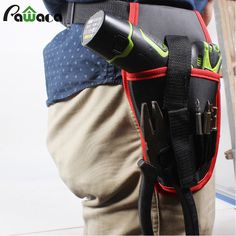 High Quality Electrician Waist Bag Belt Pocket Tool Pouches Electric Drill Holder Portable Professional Durable Organizer Bag #Affiliate