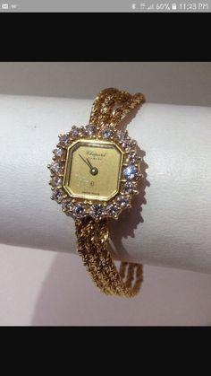 dc82463a8a3 Vintage Chopard Genève solid Gold and Diamonds Ladies quartz watch .