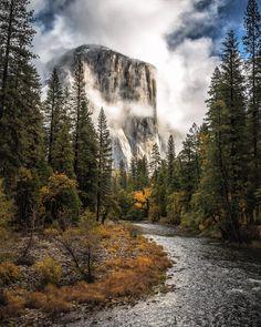 My very first glimpse of El Cap.  The Merced River and El Capitan Yosemite. by scott_kranz
