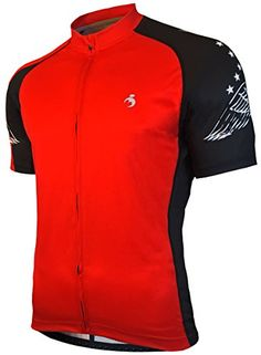 MUTEKI Mens Wings Cycling Jersey XLarge Raging Red    Be sure to check out  this awesome product. (Note Amazon affiliate link) b4c38a572