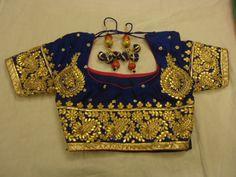 #Antique #velvet #blouse #Indian #gotapatti