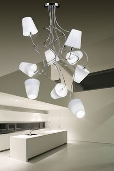 Metal Lux Aria Flush Ceiling Light with Chrome Frame and White Glass ...