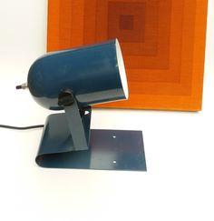 Mid Century Modern Enameled Light Indigo Blue. $40.00, via Etsy.