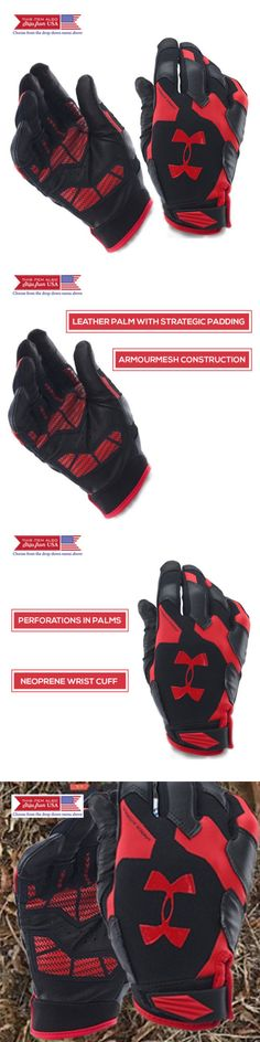 Gloves Straps and Hooks 179820: Under Armour Men S Renegade Training Gloves, Black Red, Large Leather Palm -> BUY IT NOW ONLY: $192.95 on eBay!
