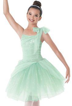 Weissman™   Draped Tulle Asymmetrical Ballet Dress