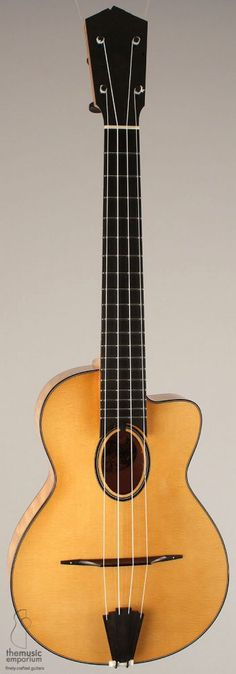Collings archtop ukulele. A uke that Django Reinhardt might play (looks like a Selmer guitar).
