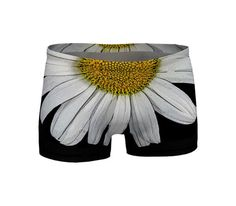 Floral Shorts Workout Gym Clothes Floral Stretch by WhimZingers