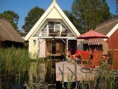 Comfortable boathouse on Granzow Möschen - Home Page Holiday Destinations, Germany Travel, Tiny House, Travel Inspiration, Places To Go, Shed, Around The Worlds, Outdoor Structures, Cabin