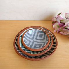 Ring dish set set of three ring dishes salt by SperlazzaPottery