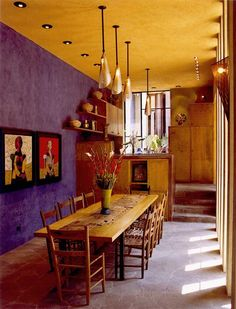 Colorful interiors of a house in San Miguel de Allende - Bold Color in Home Decor