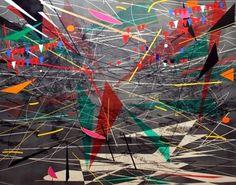 """Black Ground (deep light)"" by Julie Mehretu"