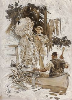 "shear-in-spuh-rey-shuhn:JOSEPH CHRISTIAN LEYENDECKERThe Voice in the RiceOil on canvas29″ x 21"" Wow beautiful piece I haven't seen before!"