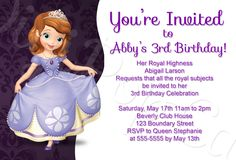 Sofia the first birthday party invitations create your party invitation and get ideas for your invitation 14