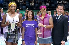 Li Na (second right) rose to a career-high ranking of three before losing to World No. 1 Serena Williams (far left) in the final of the WTA Championships. From 2014, the season-ending event will be held in Singapore, represented by Lionel Yeo (far right), Chief Executive of the Singapore Tourism Board. Photo: Getty Images.