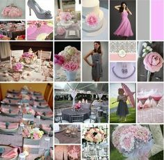 Pink and Grey Wedding