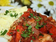 """National Chicken Cacciatore Day: The term """"alla cacciatora"""" is Italian for """"in the manner of hunters."""" Real-life translation: a delectable dish of braised chicken with saucy tomatoes, herbs and veggies. Cacciatore Recipes, Chicken Cacciatore, Oven Recipes, Chicken Recipes, Cooking Recipes, Turkey Recipes, Italian Chicken Dishes, Italian Meals, Braised Chicken"""