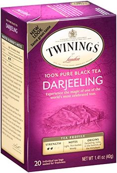 Twinings Black Tea, Darjeeling, 20 Count Bagged Tea (6 Pack) *** More info could be found at the image url.
