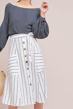 Faithfull Armada Buttoned Skirt #ad #AnthroFave #AnthroRegistry Anthropologie