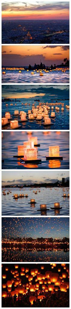 Altijd gewild, lampjes in het water. Magisch