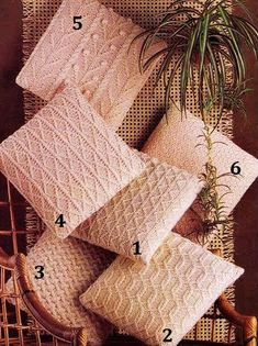 Aran Fishermans 10 ply Knitted Cushions 6 styles 14 x 14 inches - Vintage Knitting Pattern    INSTANT DOWNLOAD:  To purchase this pattern all you