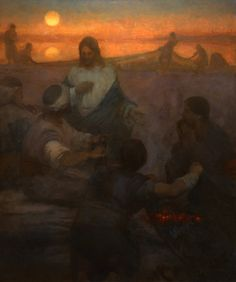 Christ and the Fishermen 72 x 90  -  I saw this in real life and it is beautiful