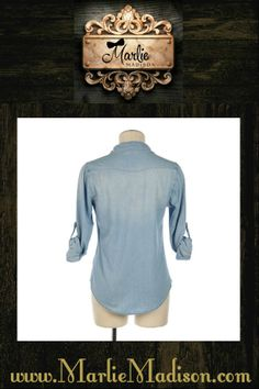 Chambray Button Up http://www.marliemadison.com/tops