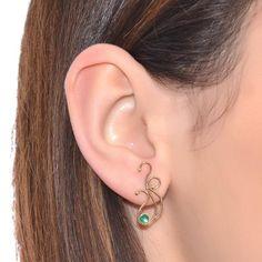 3MM EMERALD STUD EARRINGS