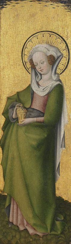 Mary Magdalen, Stefan Lochner, 1445 - 1450 | Museum Boijmans Van Beuningen