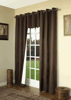 Weathermate Solid Color Insulated Curtains with Grommets