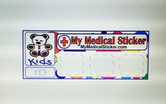New medical ID sticker for kids! Available now at mymedicalsticker.com