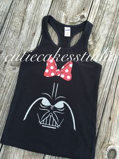 This adorable tank is perfect for any girly Star Wars Fan and the comfortable tank is lightweight and cool for wearing during the summertime.