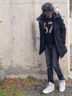 『北海道の冬は寒いから、ホントは毎日ダウンジャケットを着たいコーデ①』 今週は寒いので、カナダグース