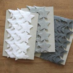 Felt Star Garland - White Grey Black by littlenestbox