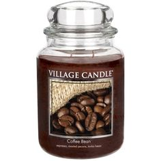 Amazon.com: Village Candle Coffee Bean 26 oz Glass Jar Scented Candle,... ($20) ❤ liked on Polyvore featuring home, home decor, candles & candleholders, glass jars, scented candles, village candle, fragrance candles and glass candle