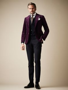 How to Wear a Burgundy Suit (7 looks) | Men's Fashion | Men's ...