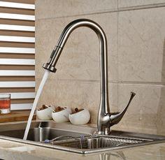 Probrico Stainless Steel Singel Bowl Topmount Three Hole Kitchen Fair Brushed Nickel Kitchen Faucet Design Ideas