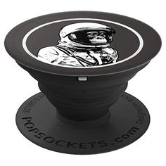 Funny Space Chimp Astronaut Street Art Vintage Cosmo Style PopSockets Grip and Stand for Phones and Tablets Pop Socket, Astronaut, Cosmos, Street Art, Phones, Space, Amazon, Funny, Vintage